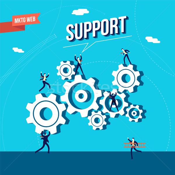 ビジネス マーケティング ウェブ サポート 実例 ビジネス男性 ストックフォト © cienpies