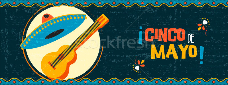 Happy cinco de mayo mexican mariachi web banner Stock photo © cienpies