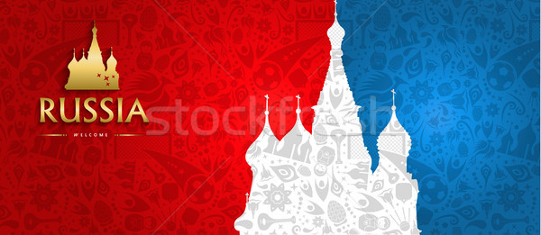 Russian landmark web banner of special sport event Stock photo © cienpies