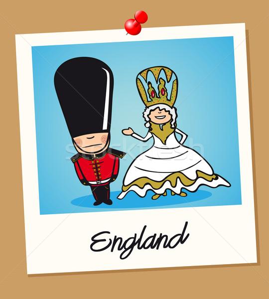 England travel polaroid people Stock photo © cienpies