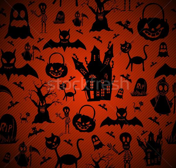Halloween elementos eps10 arquivo feliz Foto stock © cienpies