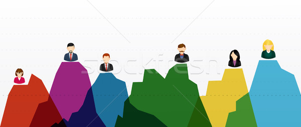 Business people infographic Stock photo © cienpies