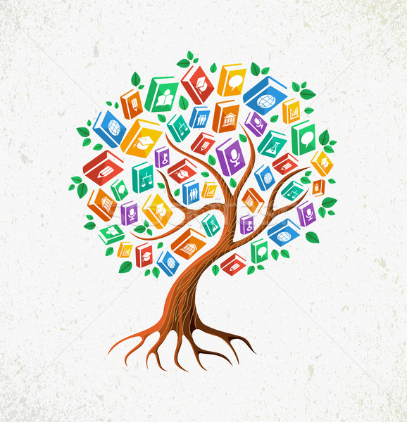 Photo stock: Connaissances · éducation · arbre · livres · apprendre