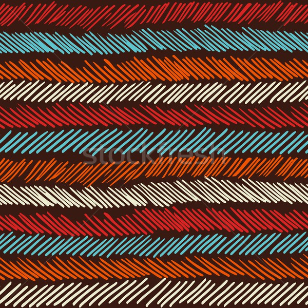 Boho seamless pattern striped vintage background Stock photo © cienpies
