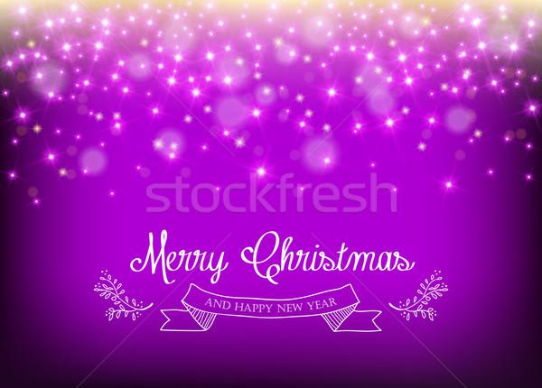 Stok fotoğraf: Neşeli · Noel · yılbaşı · yaprak · etiket · star