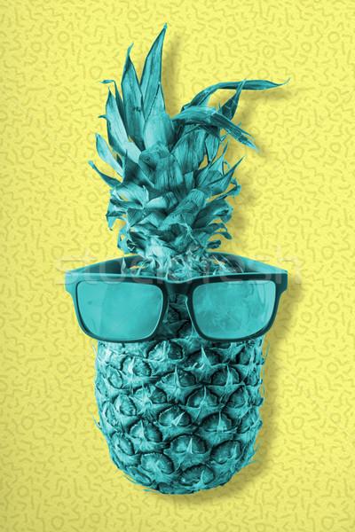 красочный ретро ананаса фрукты Солнцезащитные очки Сток-фото © cienpies