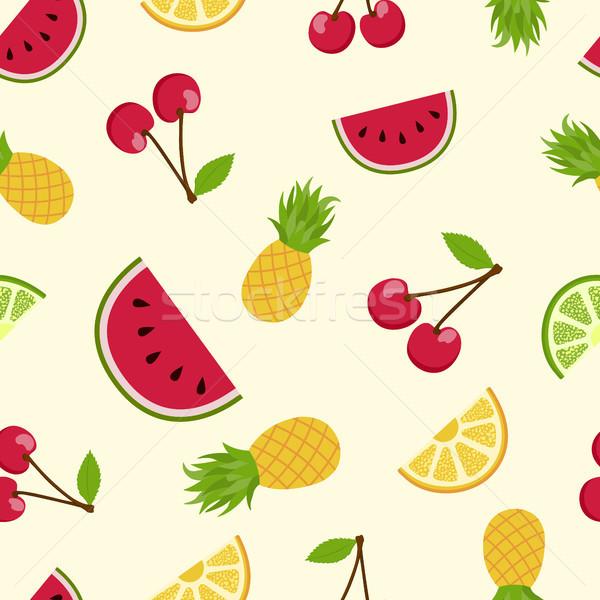 été fruits tropicaux art fruits d'été coloré Photo stock © cienpies