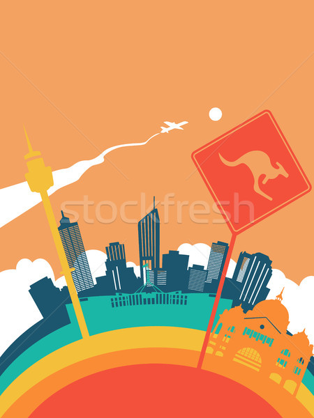 Travel australia world landmark landscape Stock photo © cienpies