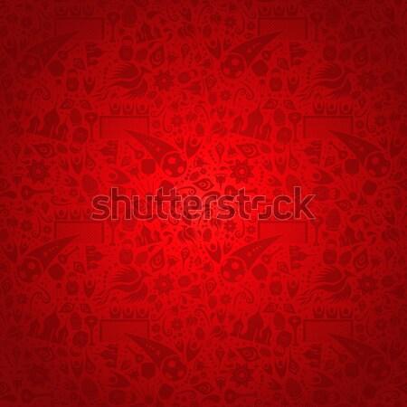 красный Россия шаблон иконки символ украшение Сток-фото © cienpies
