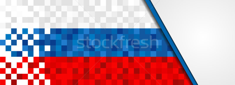 Rusya web afiş rus piksel sanat Stok fotoğraf © cienpies
