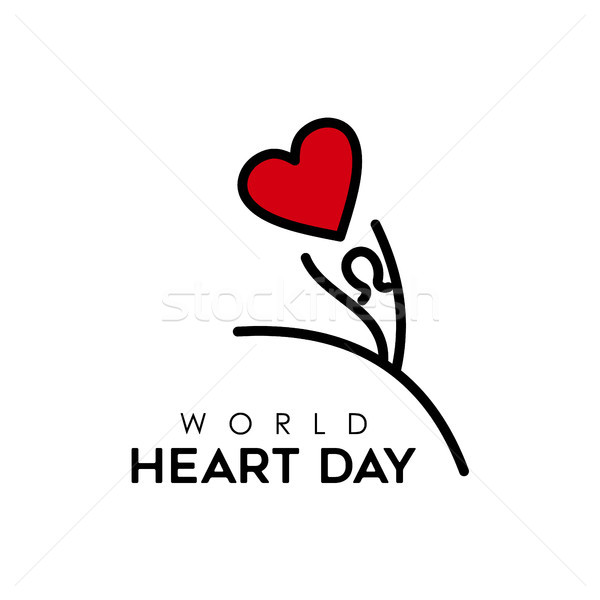 World Heart Day design for people health care Stock photo © cienpies