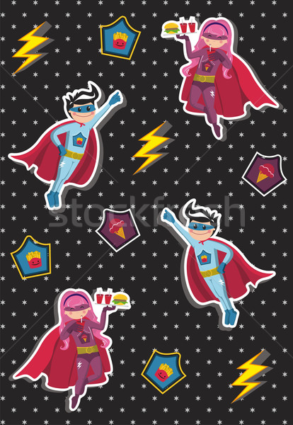 Superhero дети шаблон воздуха Сток-фото © cienpies