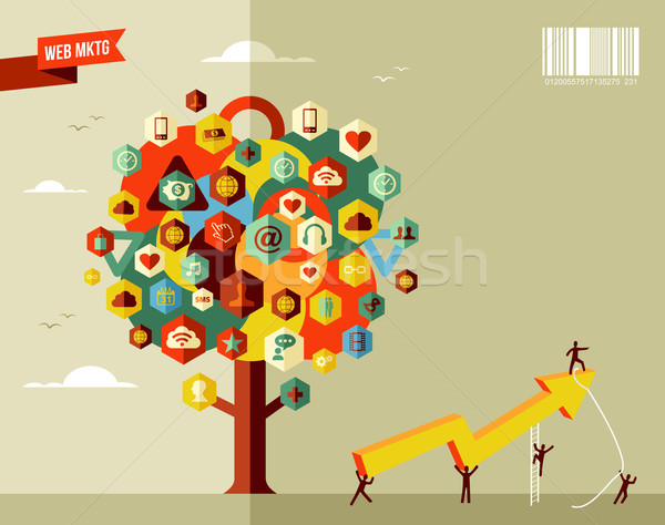 Marketing business tree Stock photo © cienpies