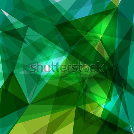 Blauw groene meetkundig doorzichtigheid modieus transparant Stockfoto © cienpies