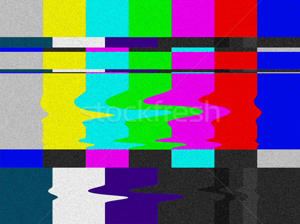 TV bars signal error. Stock photo © cienpies
