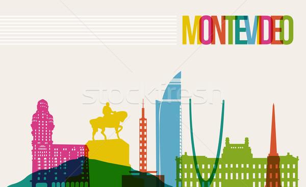 Seyahat Montevideo hedef ufuk çizgisi ünlü Stok fotoğraf © cienpies