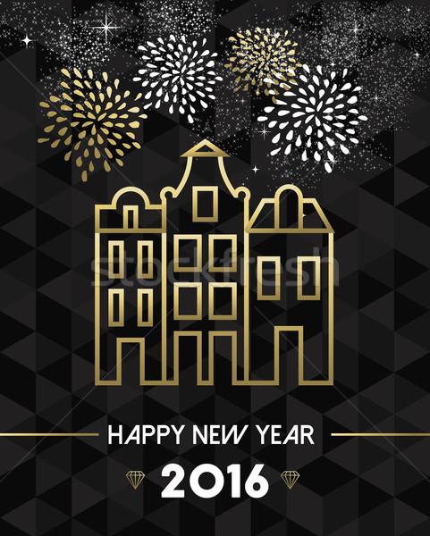 New Year 2016 amsterdam netherlands travel gold Stock photo © cienpies