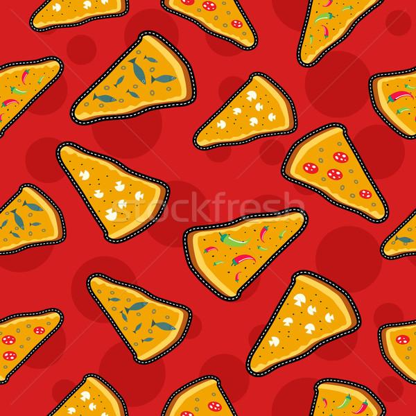 Pizza steek iconen kaas Stockfoto © cienpies