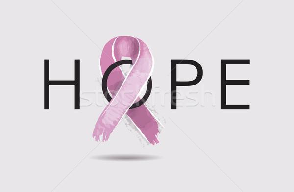 Borstkanker hoop ontwerp bewustzijn tekst Stockfoto © cienpies