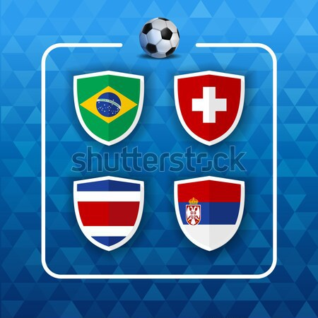 Soccer world game event 2018 Group E country team Stock photo © cienpies