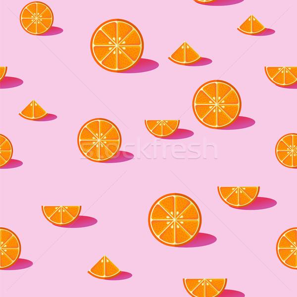 Pomarańczy lata sezon żywności Zdjęcia stock © cienpies