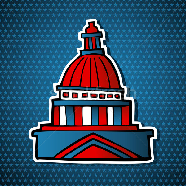 USA elections capitol building sketch icon Stock photo © cienpies