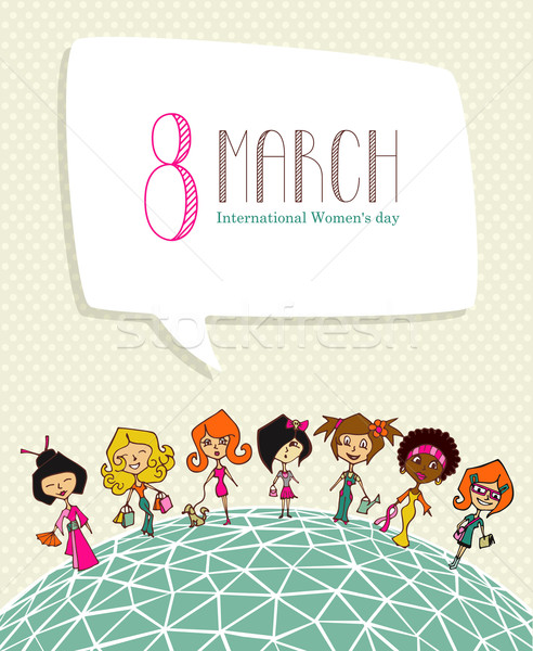 Stock photo: Diversity 8 march Women Day