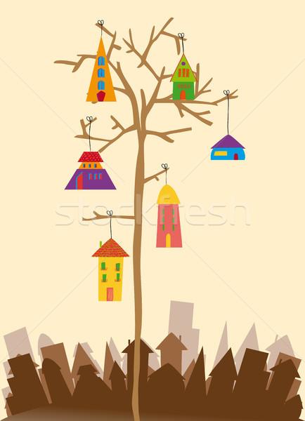 Сток-фото: птица · мало · города · прозрачный · подвесной