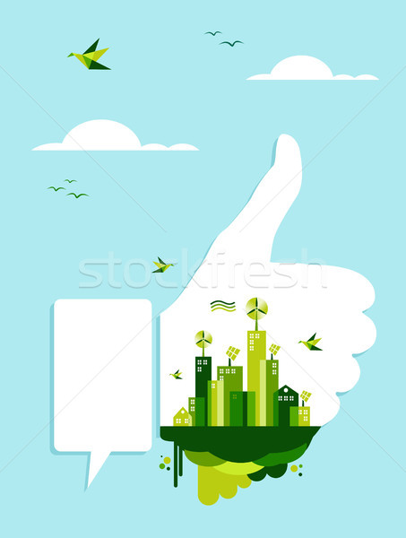 Go green like concept Stock photo © cienpies