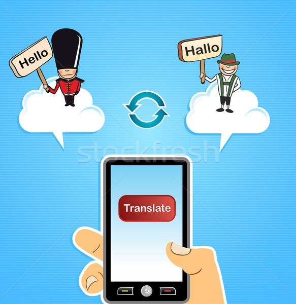 стороны глобальный интернет перевод Сток-фото © cienpies