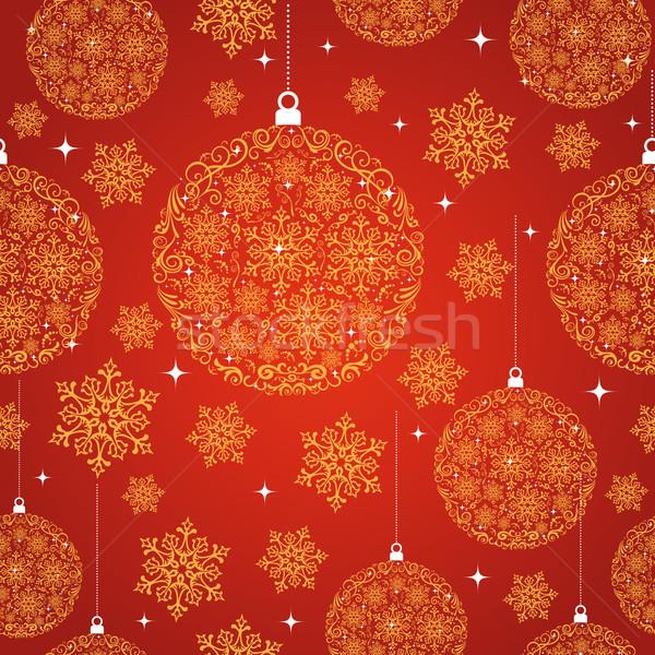 Stockfoto: Vrolijk · christmas · Rood · decoratie · cirkel