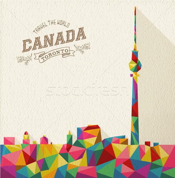 Сток-фото: путешествия · Канада · Skyline · известный · ориентир · красочный