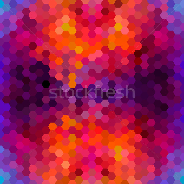 Abstract colorful honeycomb pattern background Stock photo © cienpies