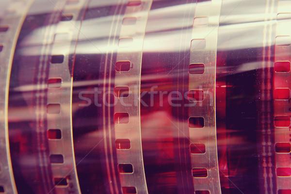 Vintage fotografie filmstrip rollen detail Stockfoto © cienpies