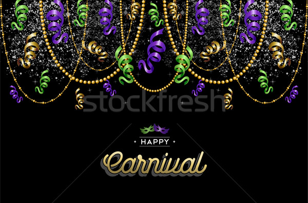 Heureux carnaval design décoration coloré texte Photo stock © cienpies
