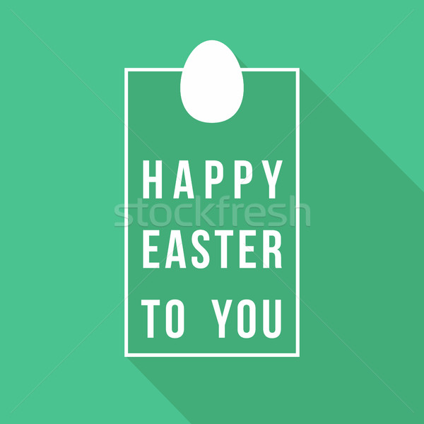Happy Easter greeting card quote design Stock photo © cienpies