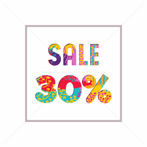 Sale 30% off color quote for business discount Stock photo © cienpies