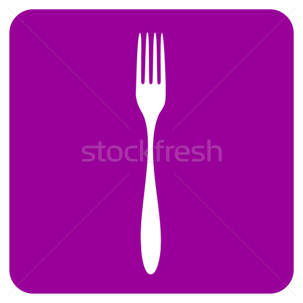fork icon Stock photo © cienpies