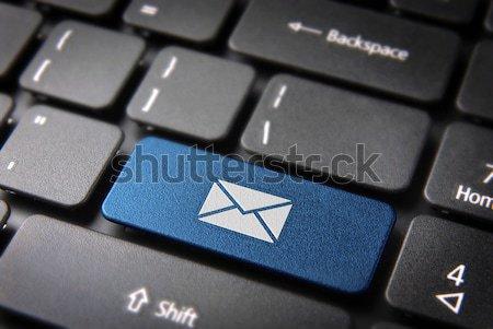 Сток-фото: электронная · почта · компьютер · кнопки · бизнеса · контакт · почты