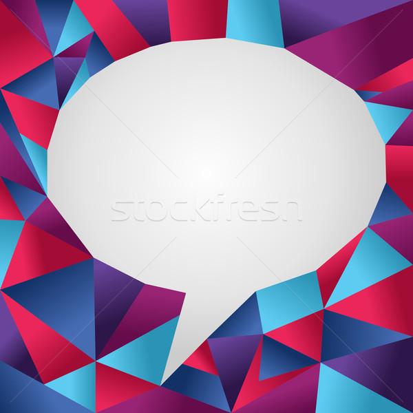 изолированный социальной пузыря оригами фон белый Сток-фото © cienpies
