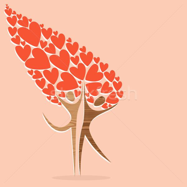 Diversità albero amore espressiva facile Foto d'archivio © cienpies