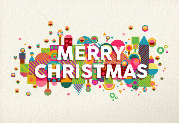 Merry christmas colorful fun geometry environment  Stock photo © cienpies