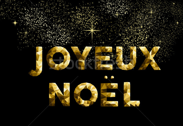 Merry christmas french joyeux noel france country Stock photo © cienpies