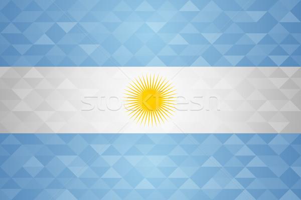 Argentine pays pavillon nation spéciale événement Photo stock © cienpies