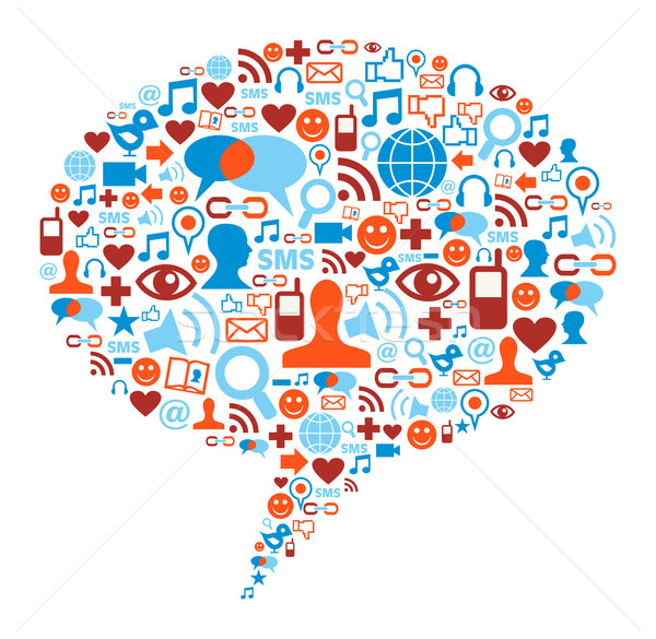 Social media bubble concept Stock photo © cienpies