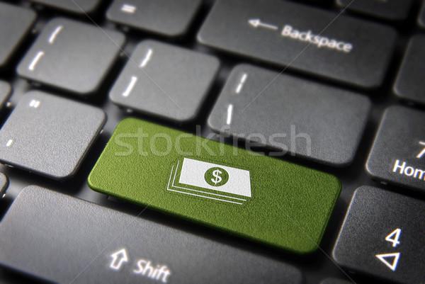 Сток-фото: деньги · интернет · зеленый · ключевые
