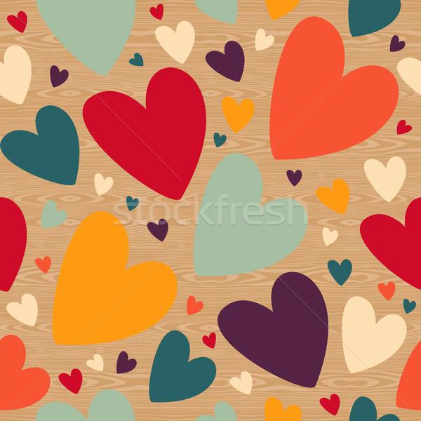 Foto stock: San · Valentín · corazón · patrón · amor