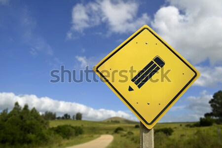Find your soulmate love concept icon road sign Stock photo © cienpies