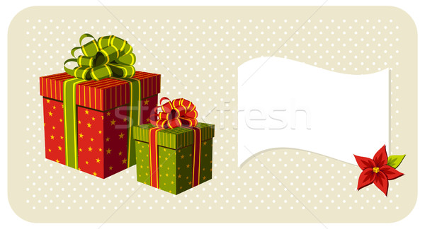 Stock photo: Christmas gifts boxes