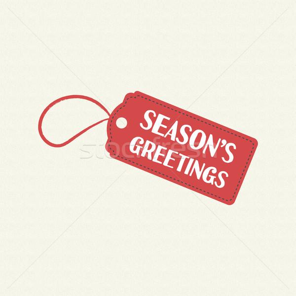 ストックフォト: 陽気な · クリスマス · 販売 · タグ · 引用 · 文字
